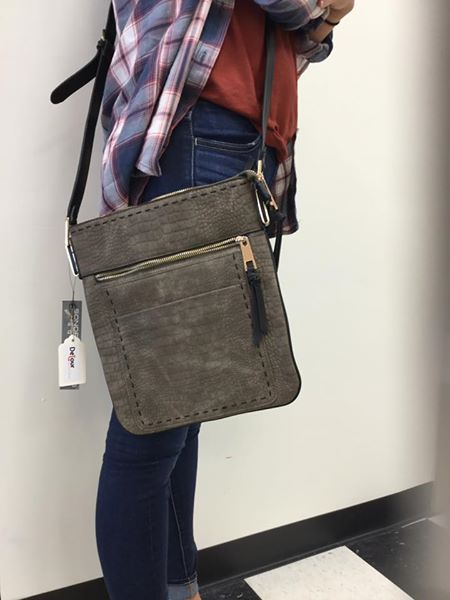 Sondra Roberts messenger bag - Designer suede messenger bag, durable, adjustable leather strap. Comes in three colors!$65