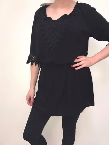 Black-Knit Rompers - We have some new spring items at Detour! These come in S,M,L, and XL . You could wear it as a swimsuit coverup or dress it up with leggings.$45