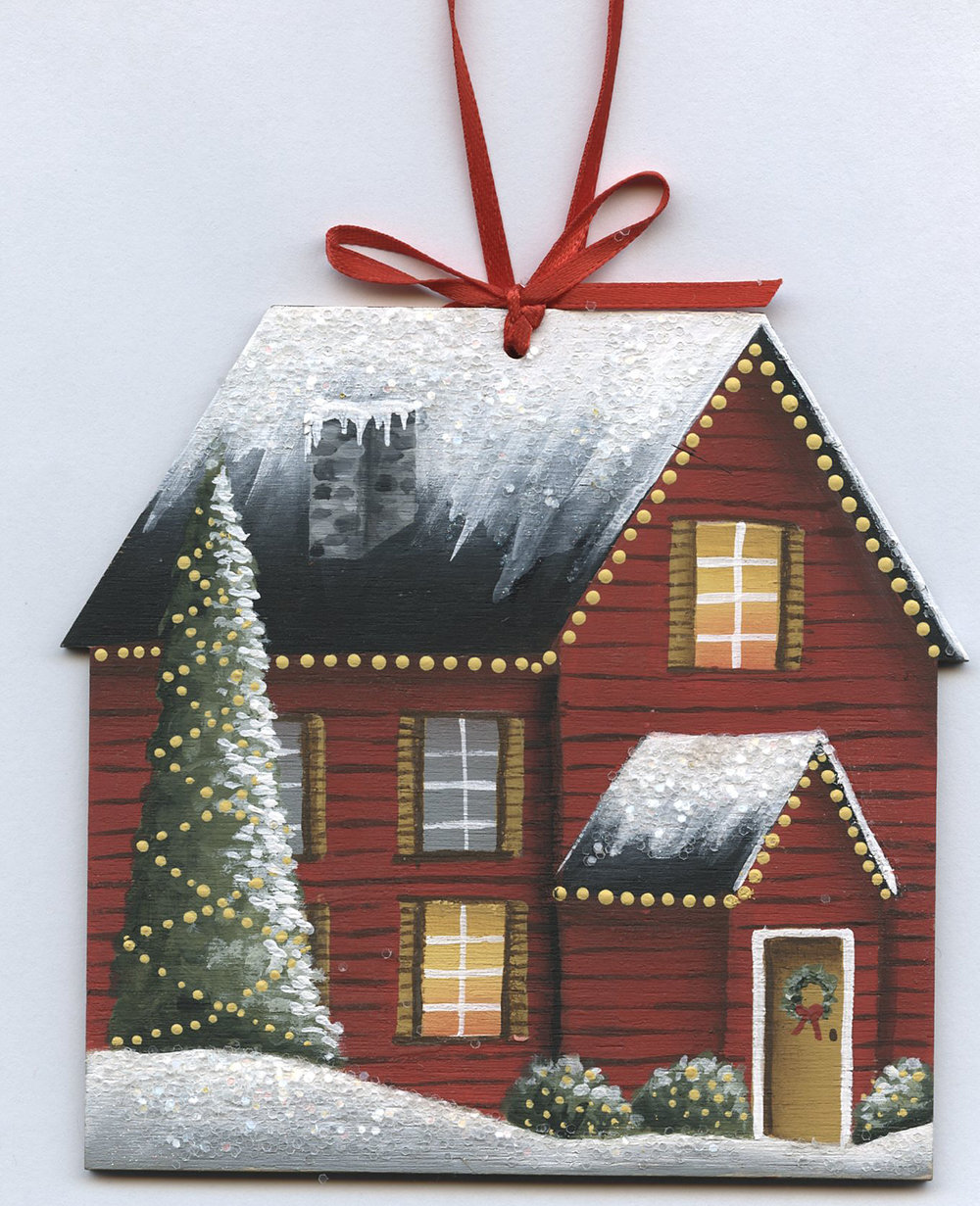 Holiday House Ornament