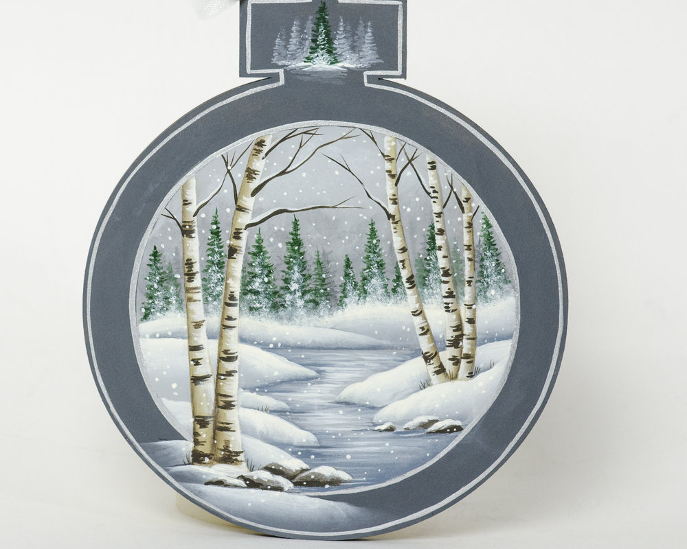 Winter Birches Ornament
