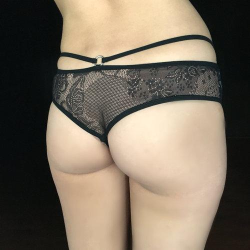 9d696cef9d35 Black Bow Backless, Crotchless Panties — aerosha