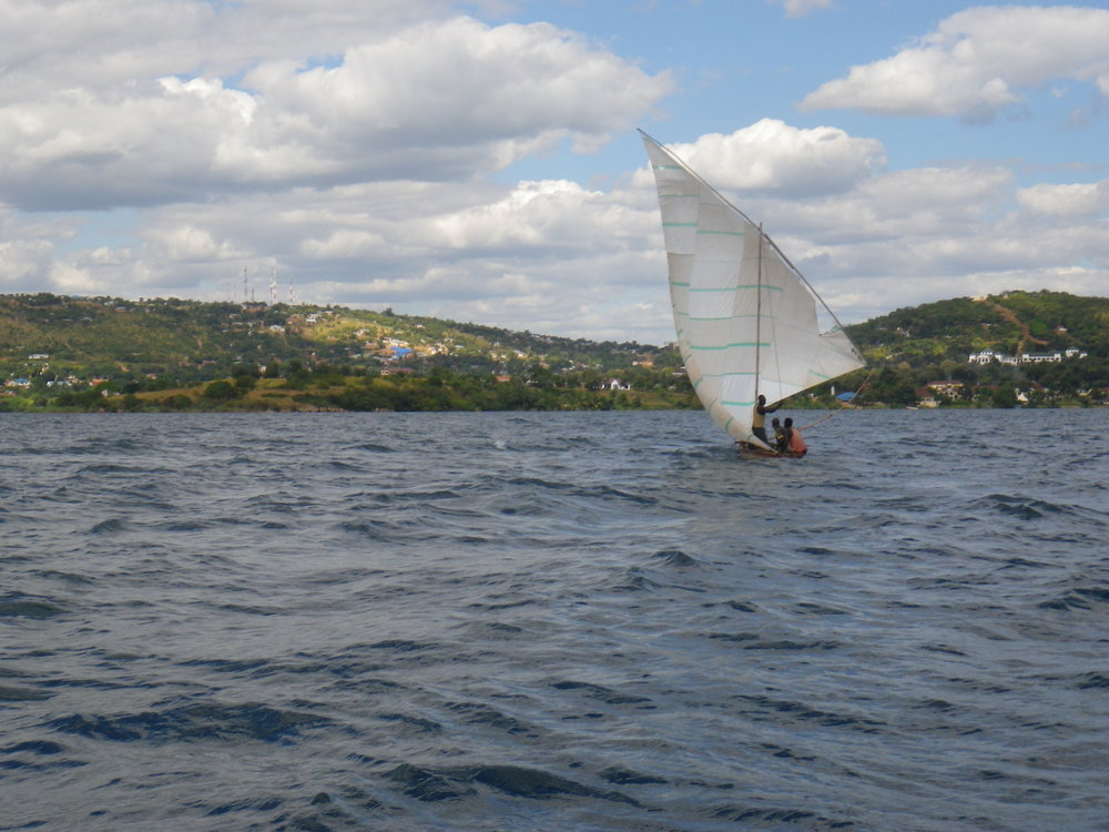 Fishing boat near Kigoma, Tanzania