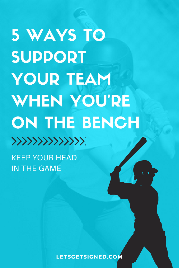 Softball - 5 ways to support your team when you're on the bench