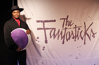 Shavey Brown as El Gallo in The Fantasticks.