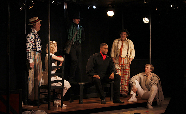 Dale Hensley, Madison Claire Parks, Drew Seigla, Shavey Brown, William Thomas Evans, and Andrew Polec in  The Fantasticks .