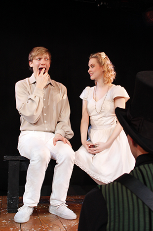 Andrew Polec, Madison Claire Parks, and Drew Seigla in  The Fantasticks .