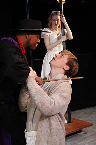 Shavey Brown, Andrew Polec, and Madison Claire Parks in  The Fantasticks .