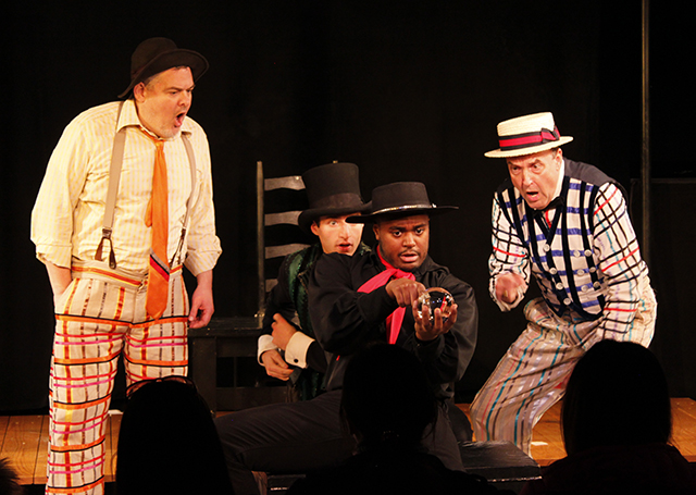 William Thomas Evans, Drew Seigla, Shavey Brown, and Dale Hensley in  The Fantasticks .