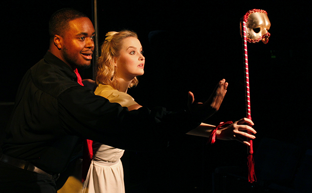 Shavey Brown and Madison Claire Parks in  The Fantasticks .
