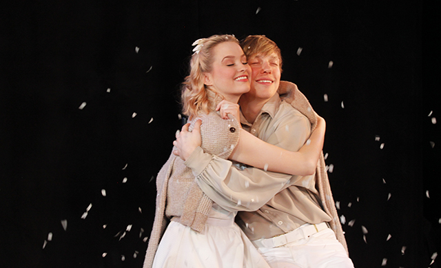 Madison Claire Parks and Andrew Polec in  The Fantasticks .