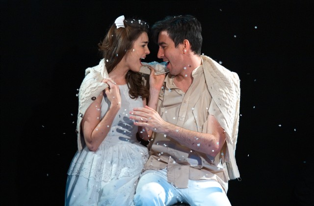 Samantha Bruce as Luisa and Max Crumm as Matt in  The Fantasticks .