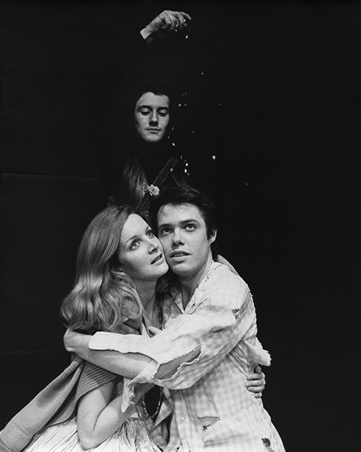 Sharon Werner as Luisa, Robert Brigham as The Mute, and Phil Killian as Matt in  The Fantasticks .