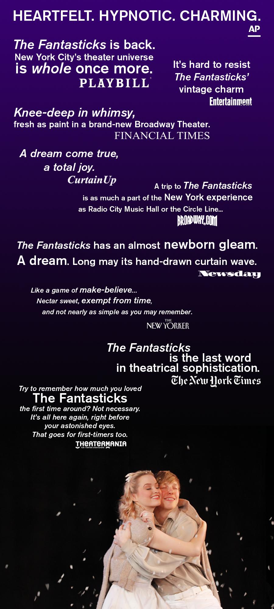 Reviews The Fantasticks Off Broadway