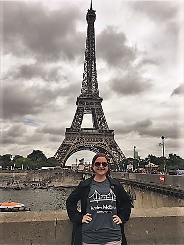 Our very own Katie sported her Amley McEntire Ortho tee in PARIS!