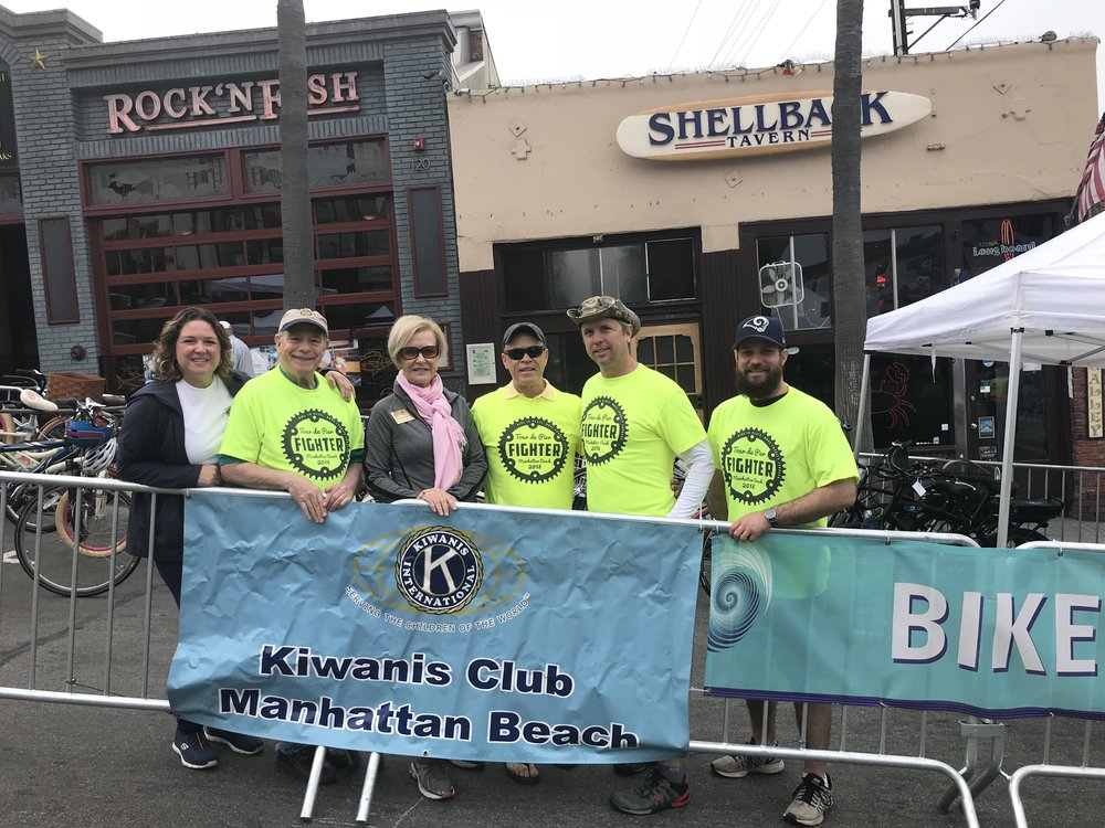 DeAnn, Rick, Suzanne, Craig, Steve, and Mike ready to rack some bikes at the 2018 Tour de Pier