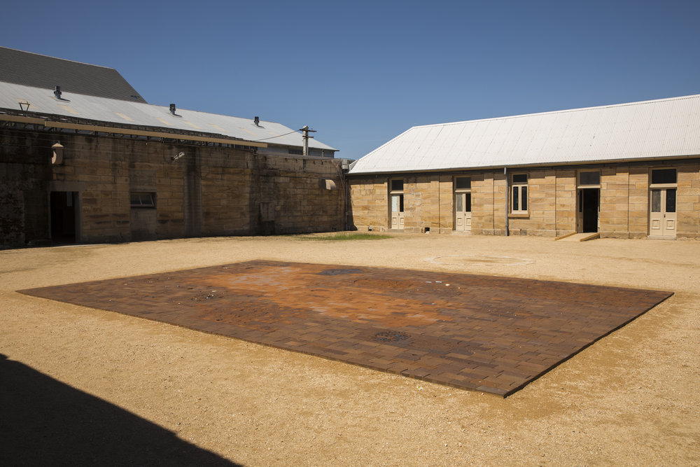 Installation view:  A rock in this pocket. , the 21st Biennale of Sydney (2018) at Cockatoo Island