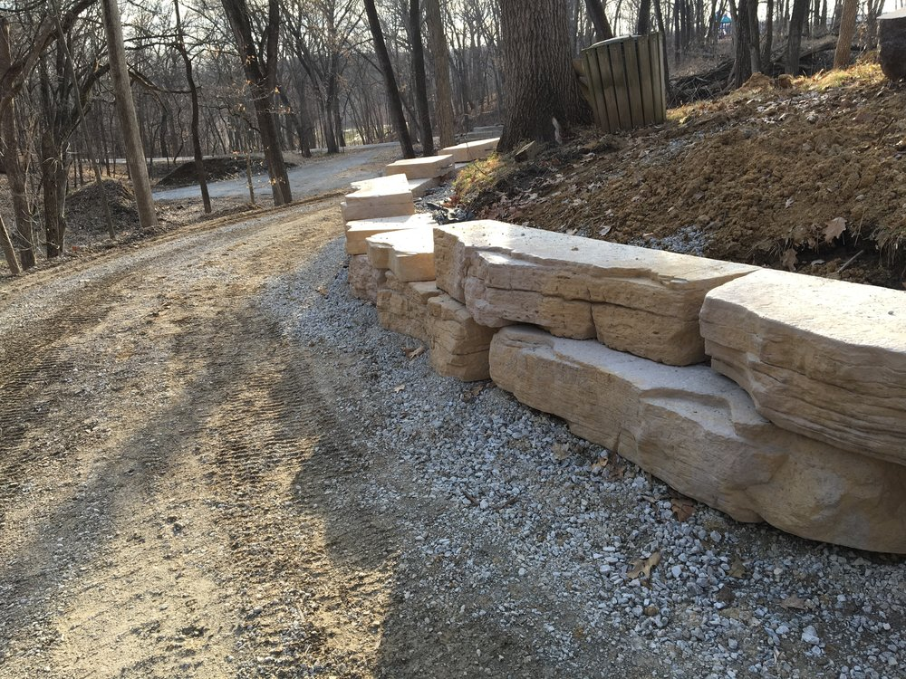 Progress on the remodeled Veteran's Trail