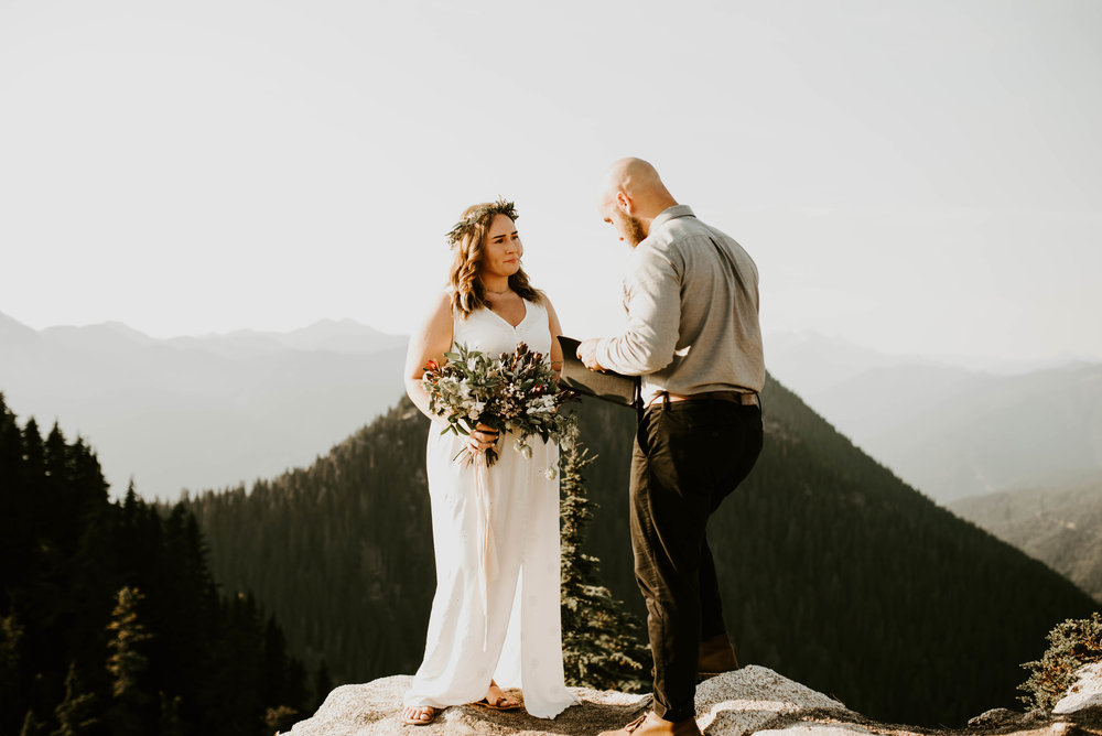 Ellie + Morgan // North Cascades Mountaintop Elopement