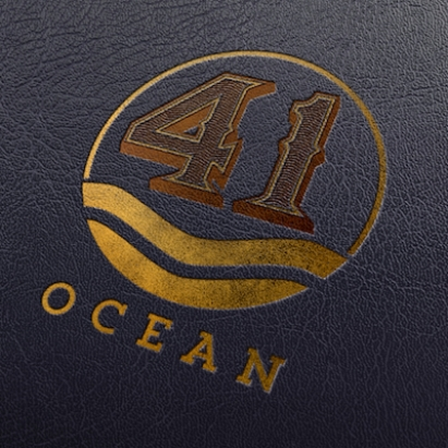 41 Ocean menu leather logo mock small.jpeg