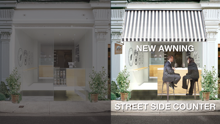 For $50k, the Boba Guys can recreate the facade for a better street side experience