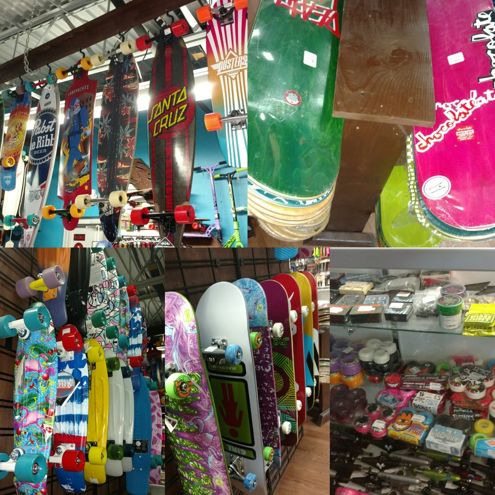 Plenty of new decks in stock, complets,  longboards, trucks, bearings, wheels and More