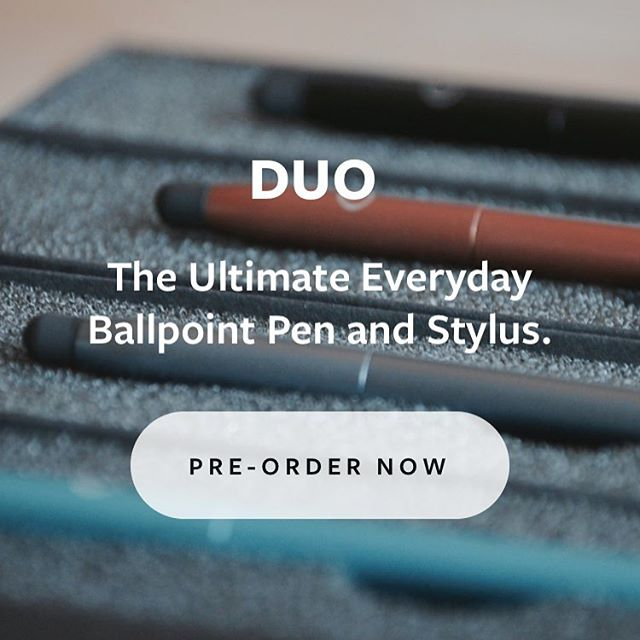 Our website is currently being updated! You can still pre-order the DUO on our existing website at the same price as the Kickstarter Campaign. We should be shipping in 2-3 weeks 🤞🏼 #industrialdesign #prototype #penandstylus #kickstartercampaign #edc #productdesign #simplicity #britishdesign #penstylus #simpledesign #stationery #stylus #iphone #minimaldesign #pen #penproject #kickstarter #ballpoint #ballpointpen #design #startup #crowdfunding #entrepreneur #madeinuk #maker #everydaycarry #industrialdesigner #photography #designerpen #everydaycarry