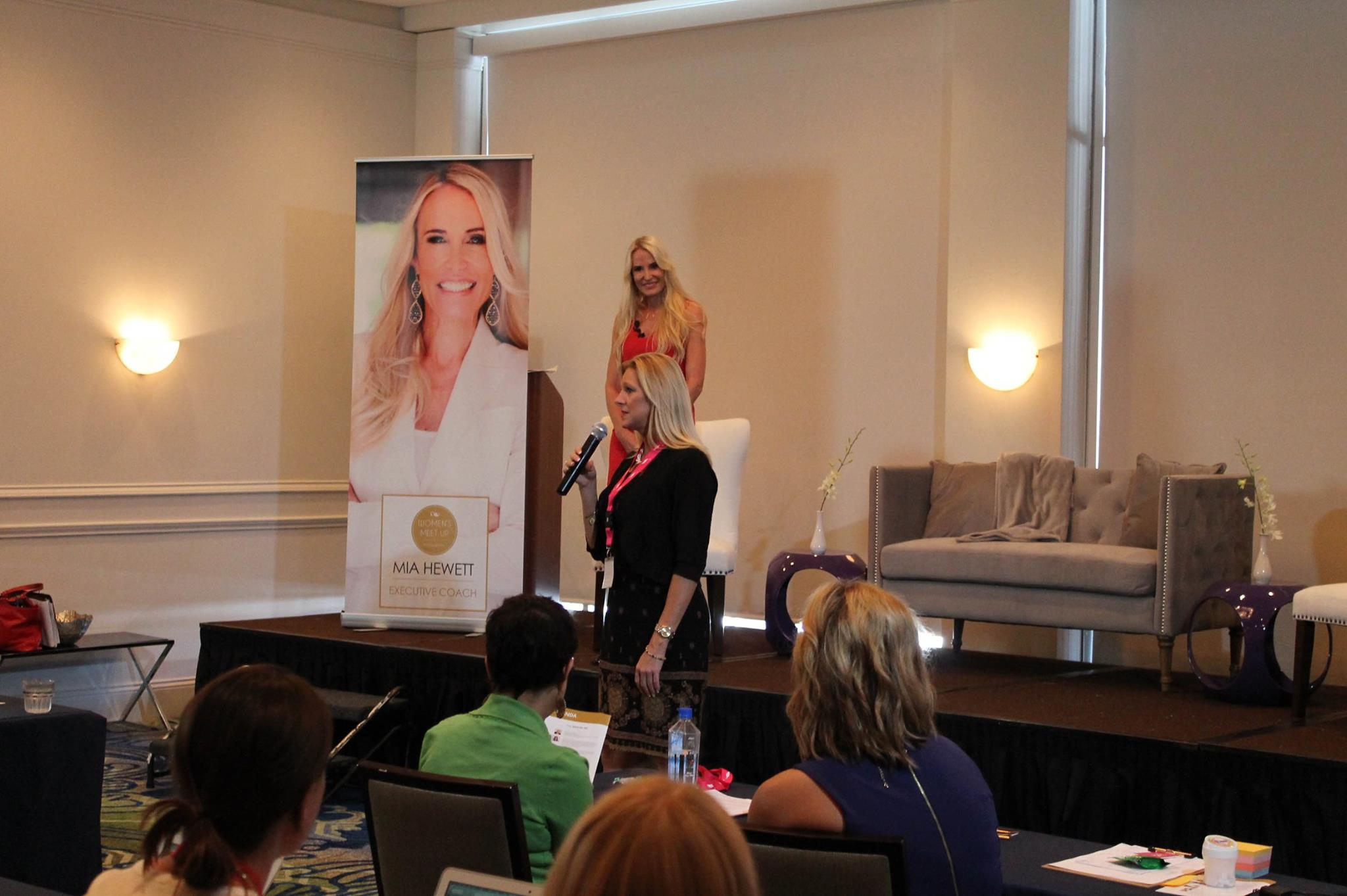 Mia Hewett encouraged attendees to share their stories, image courtesy of 32Events