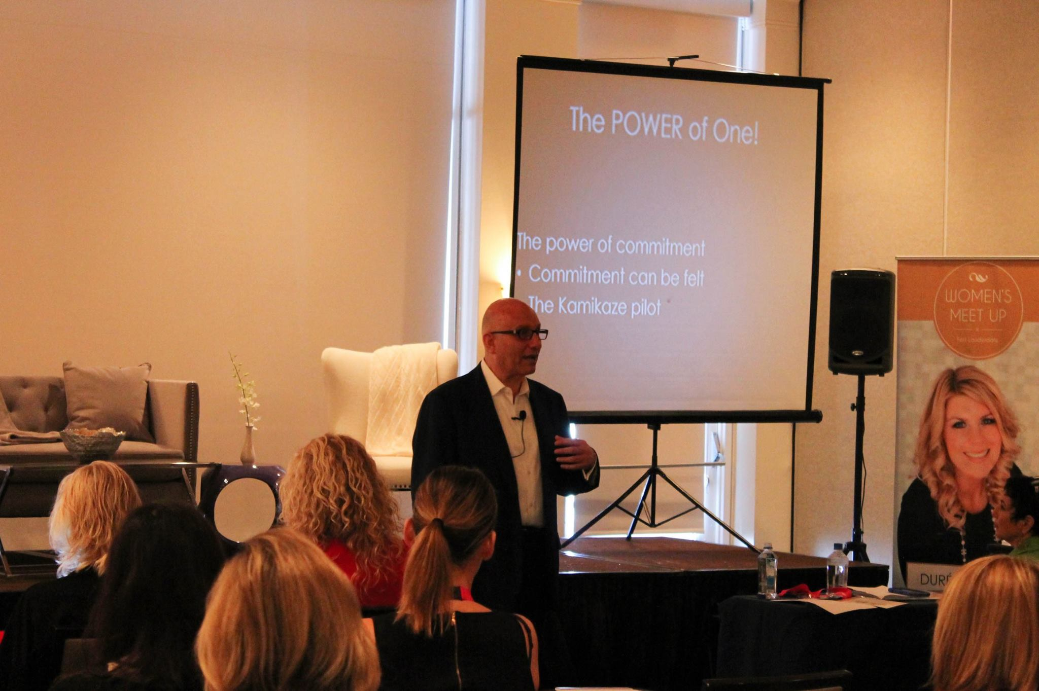 Roy Assad during his keynote address, image courtesy of 32Events