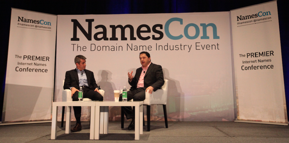Derek Newman and Akram Atallah chat at NamesCon 2016