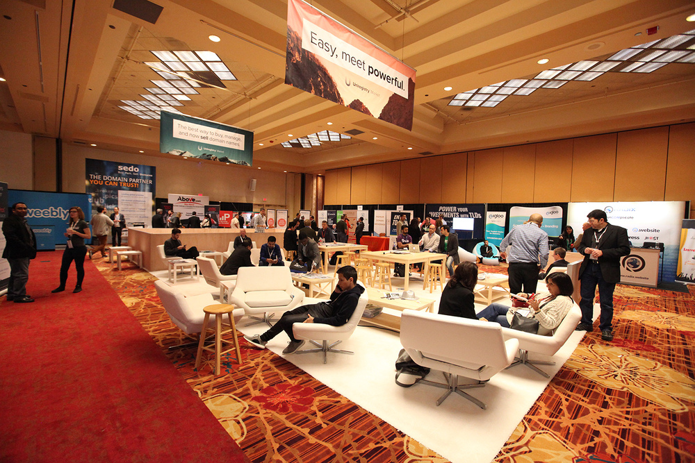 The Uniregistry Lounge in the main Exhibit Hall