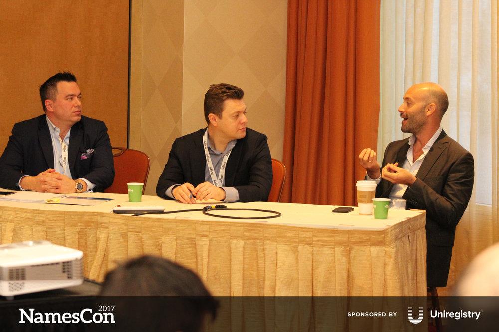 l-r: Zak Muscovitch, Eugene Rome, and Andrew Rosener