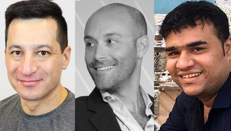 Richard Lau (L); Andrew Rosener (M); Sharjil Saleem (R)