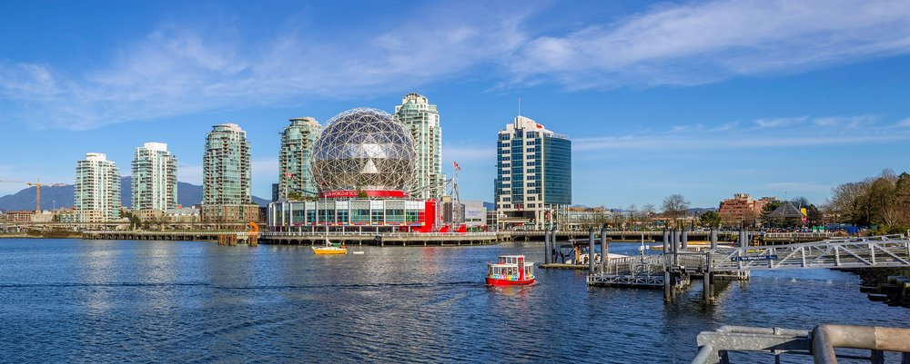 View of Science World and False Creek from Stamp's Landing