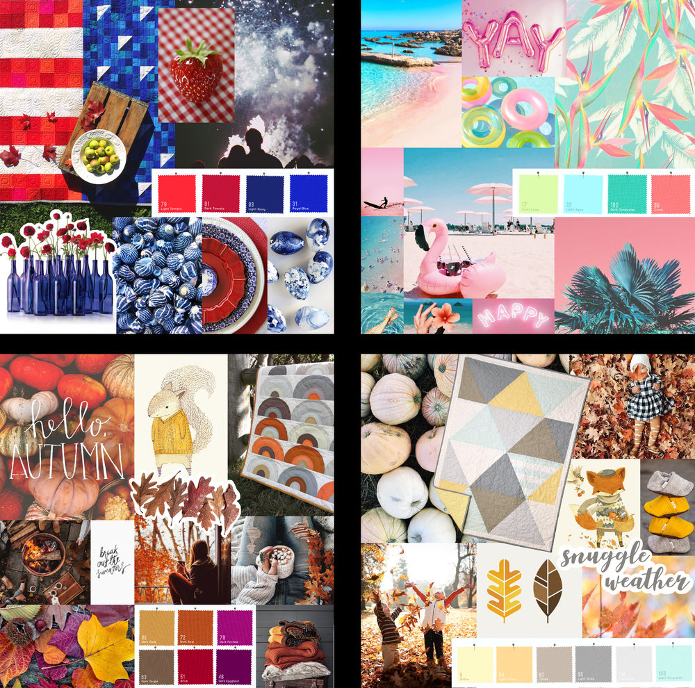 Color Boards for Clothworks Social Media