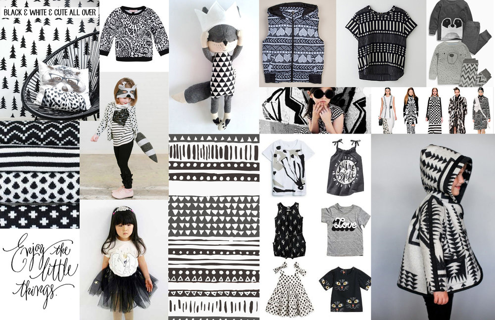 Black + White + Cute Allover   Graphic / Color / Print trend research for Gymboree