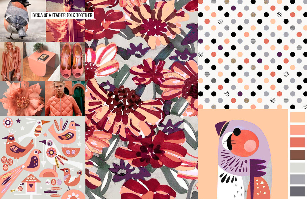 Birds of a Feather Flock Together  Graphic / Color / Print trend research for Gymboree