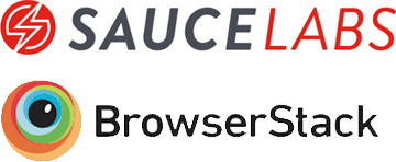 Virtual cloud-based test environments are a great way to support a wide range of tests without a big investment in a test lab of your own.  That is why we work well with SauceLabs and BrowserStack.
