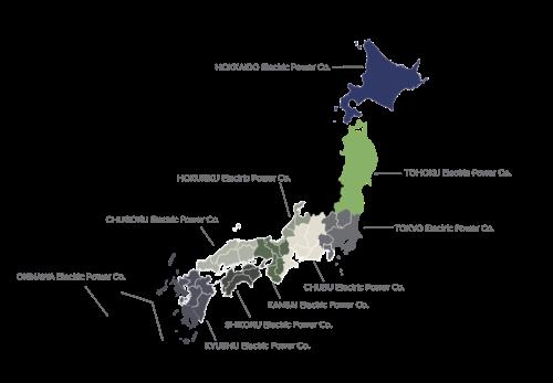 Japan Utility Map 2017
