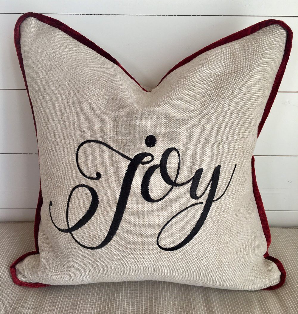 Joy Decorative Pillow Cover Southern Provisions Company