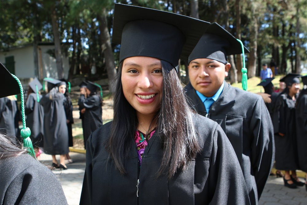 Mayra graduated in Fall 2016, and is studying business at Galileo University in Panajachel, as well as teaching English and Spanish. She won a Walton Scholarship, and will be starting to study International Business at John Brown University in August 2017.  In 2011, she was about to drop out of school due to lack of funds, and would have been a weaver. Today, she is the education advisor to her village, teaches vacation Bible school in her community, and leads tutorials in her neighborhood.
