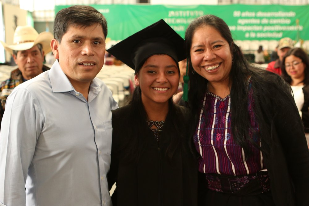 Lidia graduated in Fall 2016, and is studying Marketing Technology at Galileo University in Antigua. She is a business analyst with Torrent Consulting, an American company working with Salesforce implementations.    In 2011, she was about to drop out of school to make tortillas, due to lack of funds. In 2016, she won a scholarship from the Summer English Institute to study English in California for the month of July, and won an award for overall achievement.  She has worked as a tourism guide for foreign missions teams to the lake area.