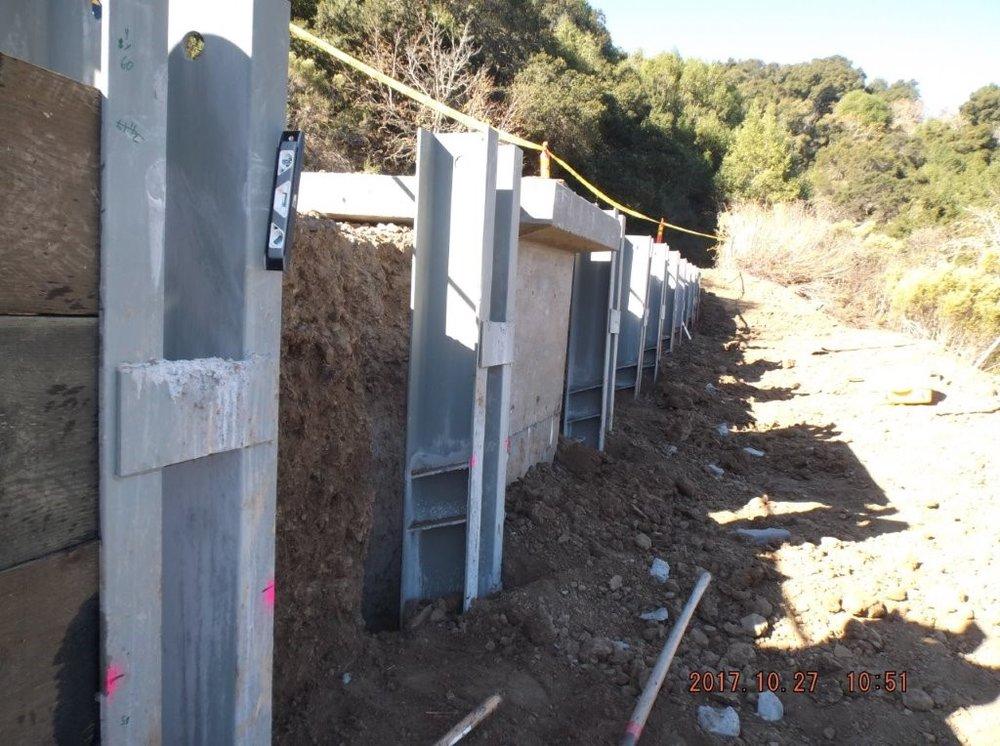 Redwood Road guard rail installation.