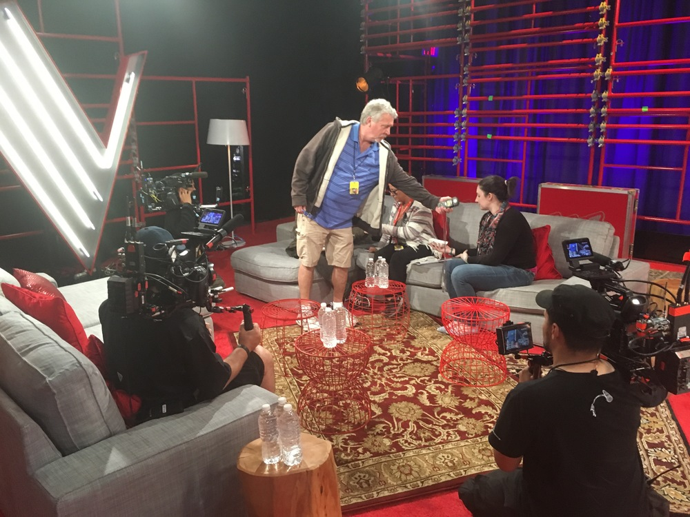One of the interview sets