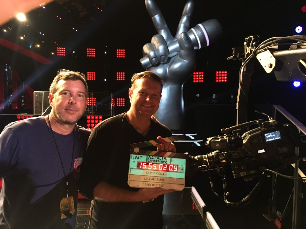 Director Mike Smith and I on stage.