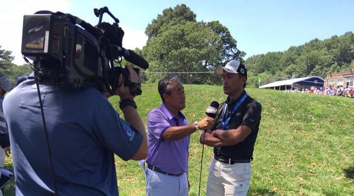 Ken Watanabe being interviewed by Rex
