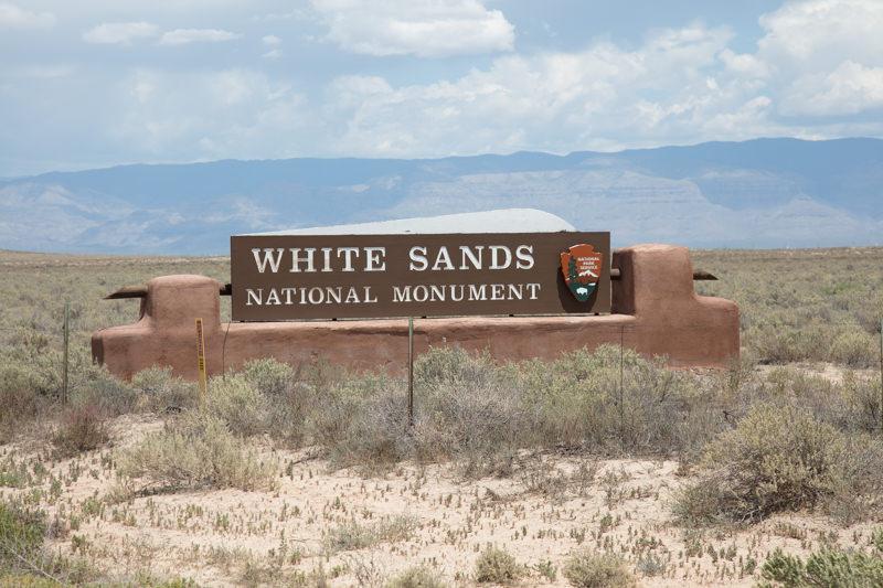 Turnoff to White Sands