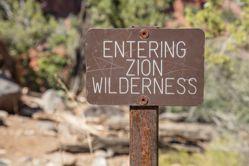 Entering Zion Wilderness