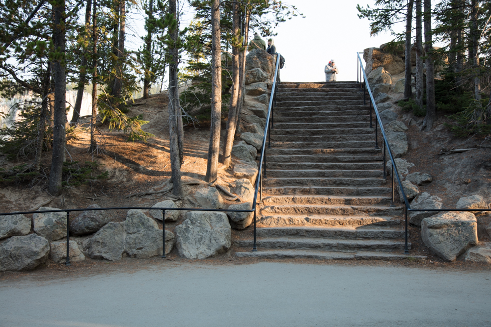 Steps to Artist Point Lookout