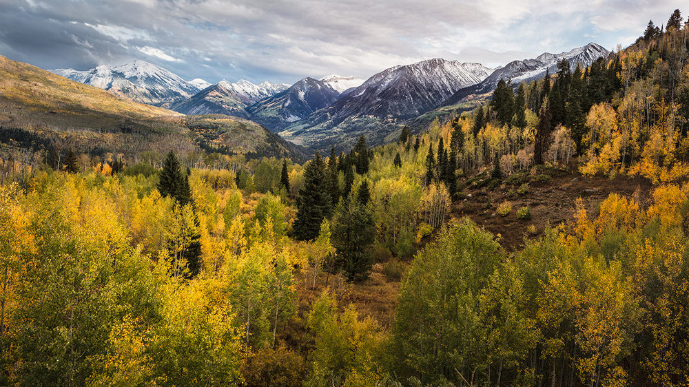 McClure Pass - The McClure Pass is a great destination for a landscape photographer and outdoor enthusiast. It runs through a huge Aspen grove with nice mountain view are all sides. The views on both the east and west sides are stunning and provide dozens and dozens of great photographic opportunities.
