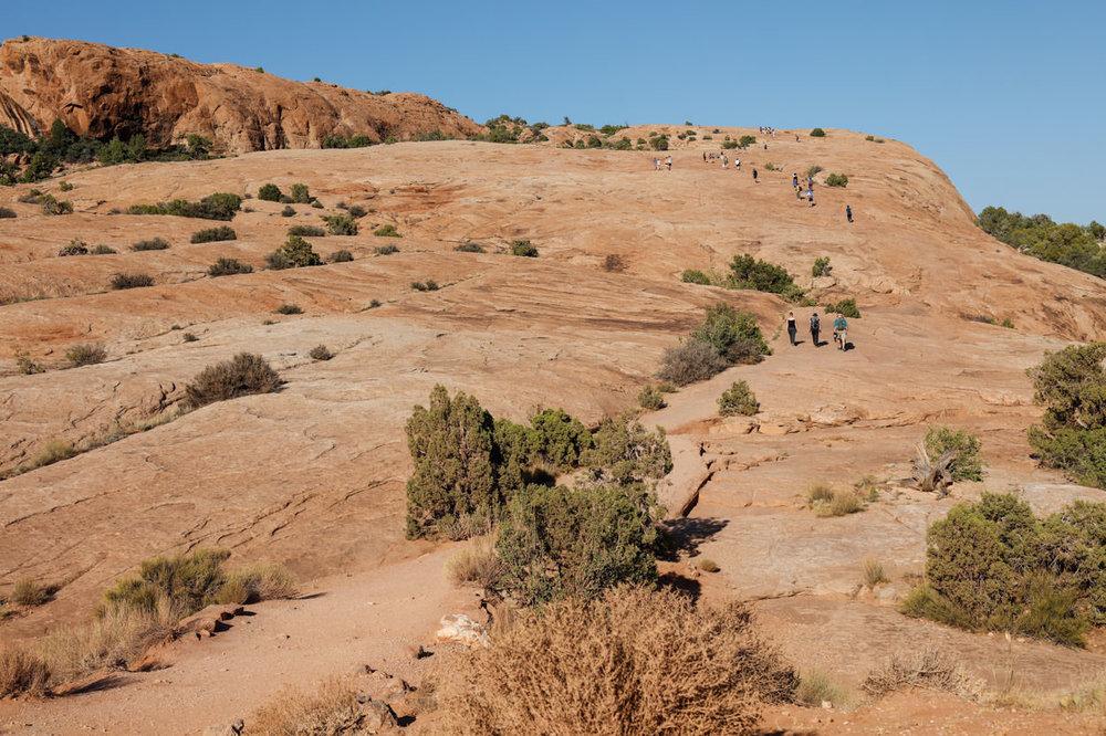 A tough uphill hike